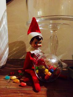 Elf on a shelf - M & Ms