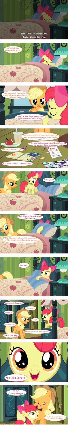 M6CMC Road Trip to Disneyland Apple Bloom Suprise by PrettyCupcakes.deviantart.com on @deviantART