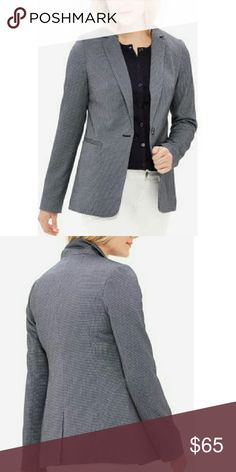 NWT The Limited one button tux jacket Gorgeous gray and blue women's tux / suit jacket from the limited collection. One button closure. Never worn, no alterations. Brand new condition with tags still attached. Makes a great gift. The Limited Jackets & Coats Blazers