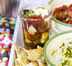 Marinated feta in thyme & chilli oil