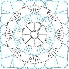 Transcendent Crochet a Solid Granny Square Ideas. Inconceivable Crochet a Solid Granny Square Ideas. Motifs Granny Square, Granny Square Crochet Pattern, Crochet Diagram, Crochet Chart, Crochet Squares, Crochet Granny, Crochet Motif, Crochet Stitches, Crochet Patterns
