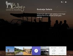 Dynamic Website Design >> Budzatja Safaris  www.budzatja.co.za  Created By Design So Fine