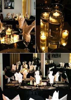 Lots of candles makes for an elegant and romantic look that can be used for any kind of event