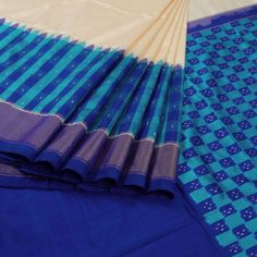 Sarveshi Handwoven Ikat Silk Saree with Checks, Tissue & Temple Border…