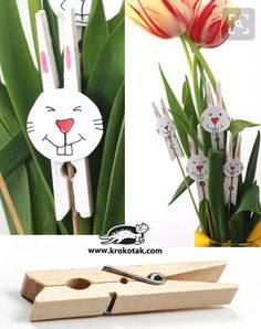 Wooden Peg Bunnies - Easter Bunny Decorations