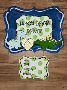Excited to share this item from my shop: Dinosaur Hospital Door Hanger