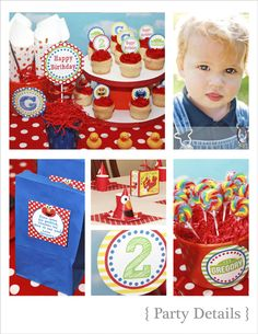 Sesame Street party printables available on Etsy. Especially love the ideas for the invitation and gift bag quotes!