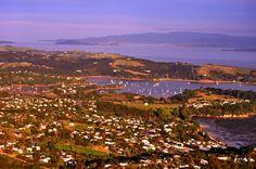 Looking down on Waiheke Island - Hauraki Gulf - Auckland New Zealand