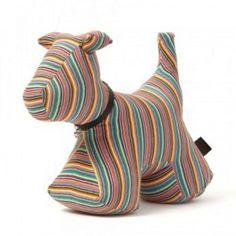 #Stuffed Candy stripe dog #doorstop