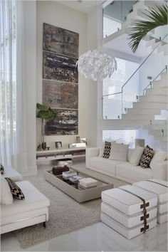 Interior Design Living Room Modern Luxury Houses The Conspiracy 50 Modern Minimalist Living Room, Living Room Modern, Interior Design Living Room, Living Room Designs, Modern Interior, Modern Luxury, Interior Ideas, Luxury Living Rooms, Living Room White