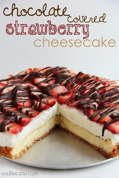 Chocolate Covered Strawberry Cheesecake. An easy and impressive cheesecake. Perfect for a special occasion!