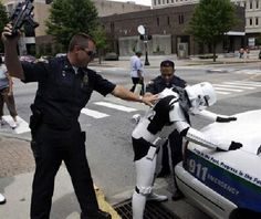 "A Starship Trooper gets nabbed.  ""This IS the droid we're looking for."""
