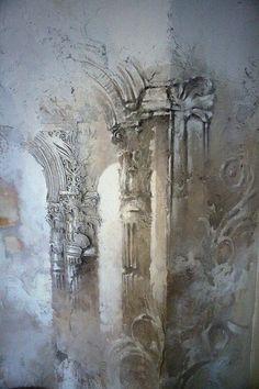 * by Georgi Tandashvili Plaster Sculpture, Plaster Art, Sculpture Art, Sculptures, Gothic Wallpaper, Wall Wallpaper, Bedroom Wallpaper, Trendy Wallpaper, Accent Wall Bedroom