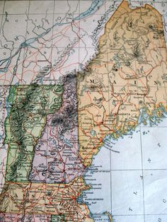Old Map Of New England From S With Mayflower Pilgrims Plymouth - 1896 map of us