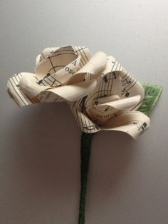 Paper Buttoniere by Handmadeweddings1 on Etsy, £9.50