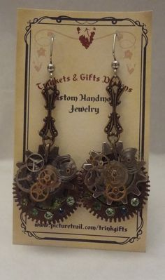 Steampunk Earrings by Trinkgifts