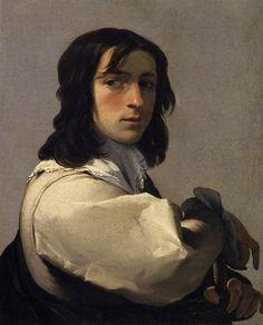 4- Eustache Le Sueur - Portrait d'un jeune homme, vers 1640, huile sur toile, Artford, Wadsworth Atheneum. - § EU. LE SUEUR: ... mesure qu'il se détache de l'influence de son maître. A cet égard, si les 1° tableaux du cycle qu'il a peint sur le thème du Songe de Polyphile (5 sont aujourd'hui conservés dans des musées) se caractérisent par une accumulation de figures et par l'absence d'un véritable souci de composition, les derniers sont moins opulents et plus équilibrés et manifestent une…
