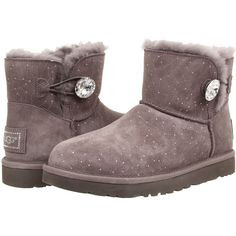 UGG Mini Bailey Button Bling Constellation Women's Boots ($168) ❤ liked on  Polyvore featuring