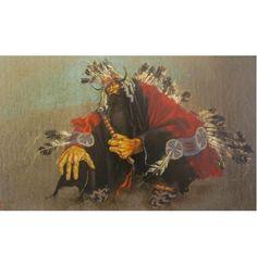 "Untitled Plains Indian Paul Pletka Acrylic on Canvas  1976   31"" x 48""  $50,000"