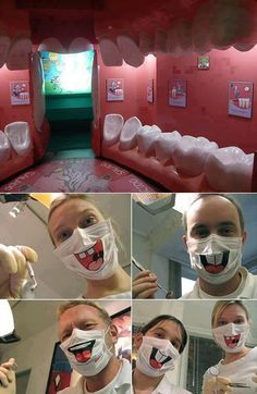 Believe it or not, this is a real dental office that comes complete with tooth chairs.