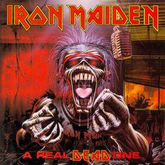 """Iron Maiden - """"A Real Dead One"""" uma das capas mais foda de todas...."""