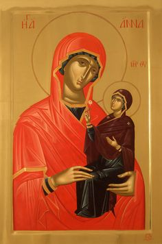 Anna by Vatopoedi Monastery icon Studio Byzantine Icons, Byzantine Art, Religious Icons, Religious Art, Monastery Icons, Jesus Christ Images, Christ Is Risen, Christian Artwork, Christian Friends