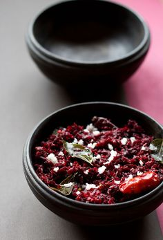 Beetroot Thoran - Mildly spiced Beetroot Stir Fry with sweet notes from the beetroot and coconut