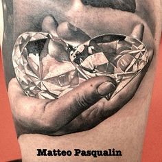 "diamonds gems hand tattoo @uktta's photo: ""By @Matteo Olivieri Pasqualini #uktta #tattoos"""
