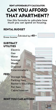 How much rent can I afford? is a common question when apartment hunting. Before you get all caught up on apartment decor and hosting potlucks, have you calculated how much you can afford to pay in rent? You should and this post will help you figure that out.