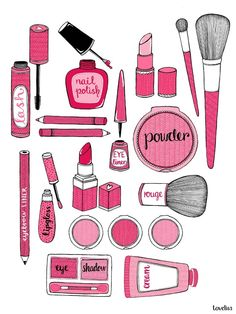 Good list of beauty basics we all need, especially when traveling. Use the diagram as a list of makeup to keep in your purse. I'll be using it in the morning to make sure I don't miss a thing!