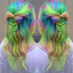 Hair by one of the 6 November Mermaidians: Pretty Hair Color, Beautiful Hair Color, Bright Hair, Colorful Hair, Neon Hair, Purple Hair, Ombre Hair, Best Hair Salon, Haircut And Color