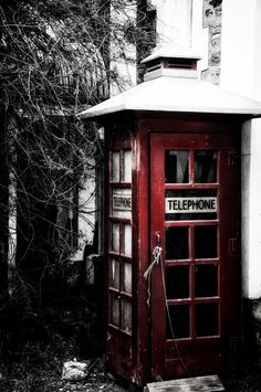 Old phone booth. Clarendon, South Australia