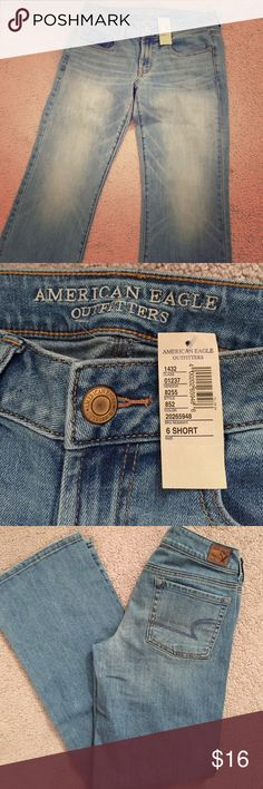 American Eagle Outfitters favorite boyfriend jean New with tags. Favorite boyfriend fit. Light blue. Size 6 short. American Eagle Outfitters Jeans Boyfriend
