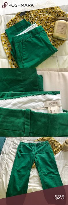 Green Cafe Capri Used once / beautiful forest green cafe Capri J. Crew Pants Ankle & Cropped