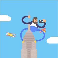 Avec son projetNYC Gifathon, l'illustrateur et animateur anglaisJames Curran a décidé de nous raconter son voyage à New York à travers30 GIFs animés