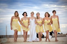 bridesmaid pics | Knee Length or Maxi dresses look great for a beach wedding; using ...