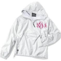 Monogrammed personalized pullover Jacket Rain jacket Sorority by SoBlessedMonogrammed on Etsy