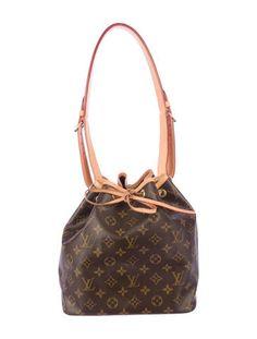 100% Authentic Louis Vuitton Monogram Canvas Petit Noe ...
