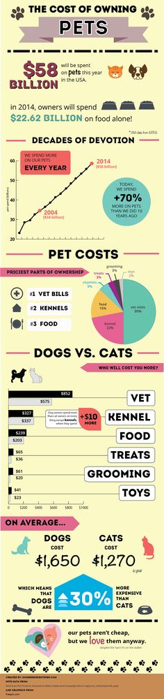 Considering bringing a new cat or dog into your family? Check this #infographic: How Much Does It Cost to Live with a Dog? Once you've decided, visit your local #TuesdayMorning to stock up on pet supplies at a big discount!