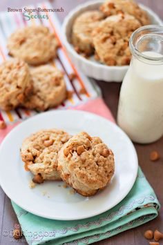 Brown-Sugar-Butterscotch-Scones Reminds me of my Pittsburgh coffee shop days...another one to ask Becky to make!