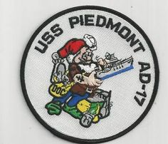US NAVY PATCH - AD 17 USS PIEDMONT - SHOWS DOC FROM SNOW WHITE AND THE 7 DWARFS