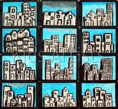 Kids Artists: Newspaper city