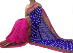 Buy Georgette Shimmer Material Sarees Online Shopping: justforbuy.com