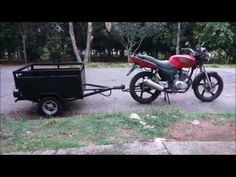 Pull Behind Motorcycle Trailer, Bike Trailer, Utility Trailer, Sidecar, Vespa, Motorbikes, Youtube, Vehicles, Scooters