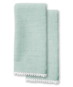 Look at this French Perle Blue Napkin - Set of Four on #zulily today!