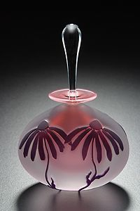 Coneflower perfume bottle
