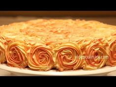 Rose Swirl Cake Decoration – Piping Buttercream Frosting