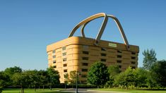 The Longaberger company makes picnic baskets, and its headquarters building reflects that. You wouldn't want your picnic interrupted by lightning, and they don't want their operations disrupted either.