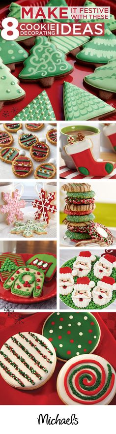 Planning on baking lots of cookies this holiday season? Check out these simple tips and tricks to make professionally decorated cookies in a snap! Christmas Sweets, Christmas Cooking, Noel Christmas, Christmas Goodies, Christmas Candy, Holiday Baking, Christmas Desserts, Holiday Cookies, Holiday Treats