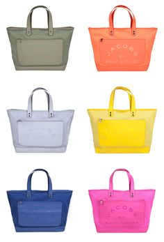 Marc Jacobs Special Items Laminated Twill Large Jacobs Tote